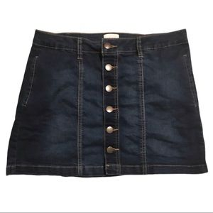 🔥Bongo Denim Button Front Mini Skirt Size 2